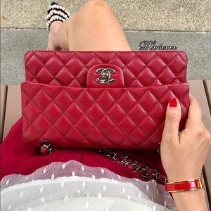 94ea44e12d836b CHANEL Bags   Soldauthentic 17b Classic Red Caviar Shw   Poshmark